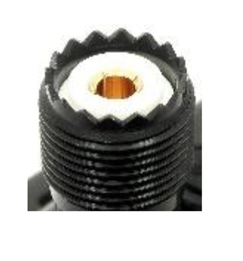 SMA-Male to UHF-Female Handheld Radio Adapter - Black