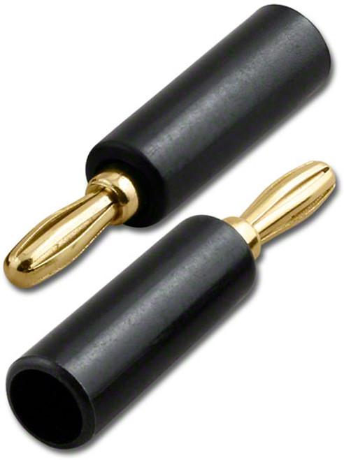 BLACK - Screw Type Banana Plug - Gold Plated - BNN-0806BK