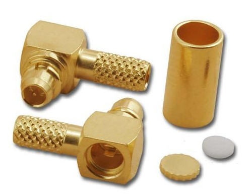 MMCX Right Angle Crimp Connector for RG-316/U - MMC-2102