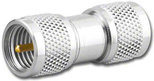 Mini-UHF Double Male Barrel Coaxial Adapter (MU-7232)