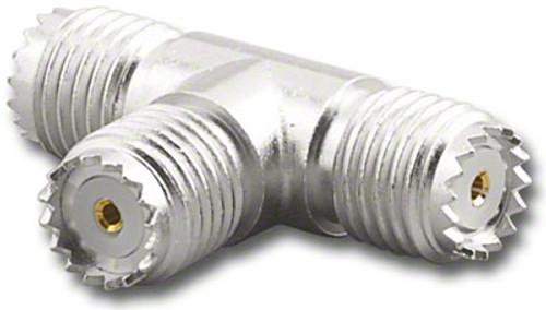 Mini-UHF Female Tee Coaxial Adapter T Connector MU-7236