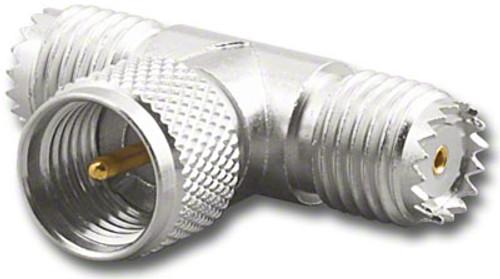 Mini-UHF F/M/F Tee Coaxial Adapter T Connector - MU-7237