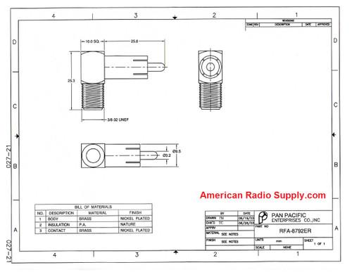 F-Female to RCA-Male Plug Coaxial Adapter (RFA-8792ER)