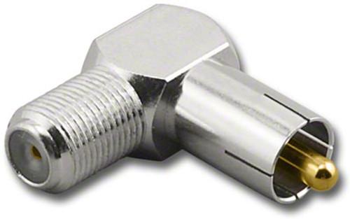 F-Female to RCA-Male Plug Coaxial Adapter (RFA-8792R)