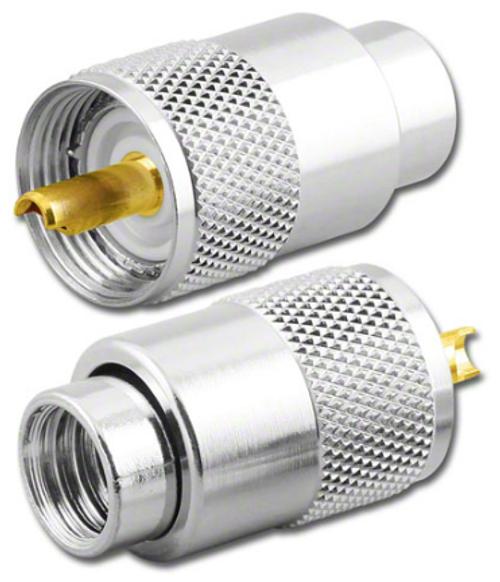 10 Packs PL-259 UHF Male Crimp Connector LMR 400 Belden 9913 Coaxial Cable