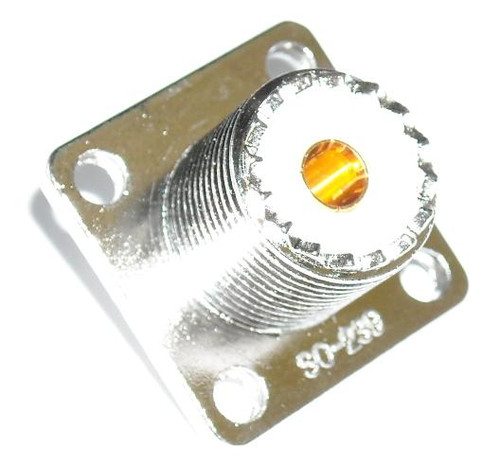 SO-239 Panel Mount UHF-Female Coaxial Connector