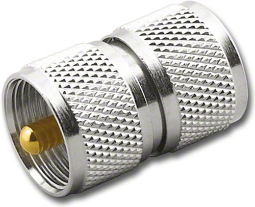 PL-259 Double Male Barrel Adapter Connector Coupler