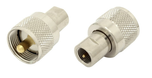 FME-Male to UHF-Male PL-259 Coaxial Adapter Connector