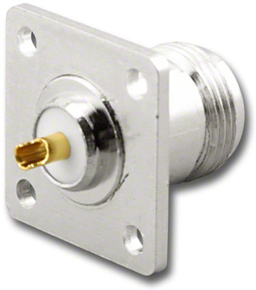 Type N-Female 4-Hole Panel Mount Chassis Coaxial Connector