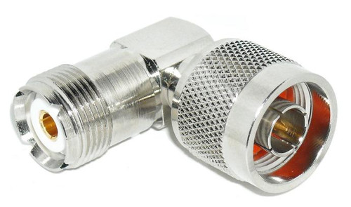 SO-239 UHF-Female to N-Male Right Angle Coaxial Adapter