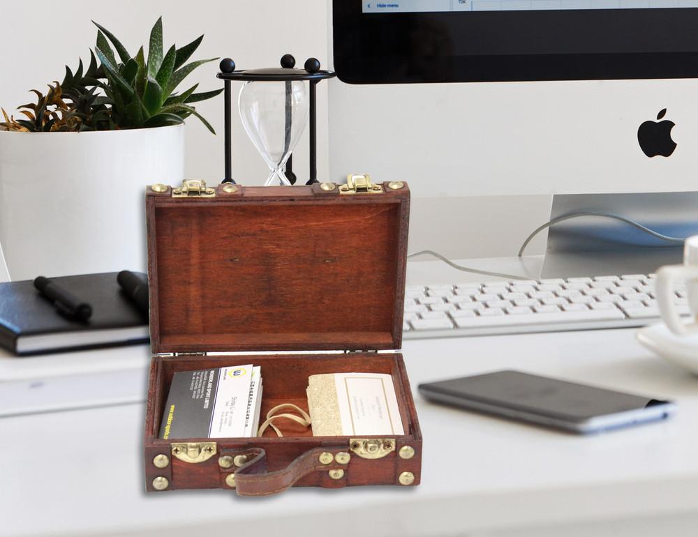 Antique Style Small Mini Suitcase