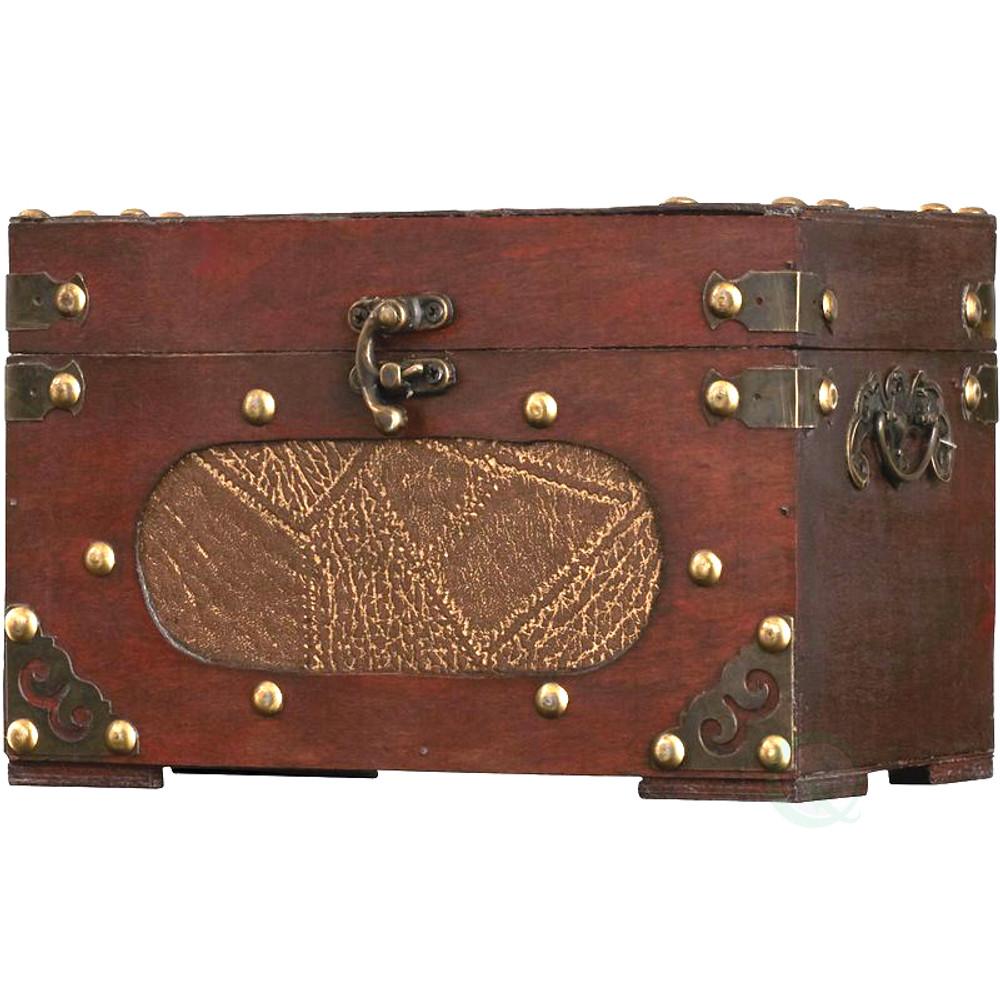Antique wooden recipe card box