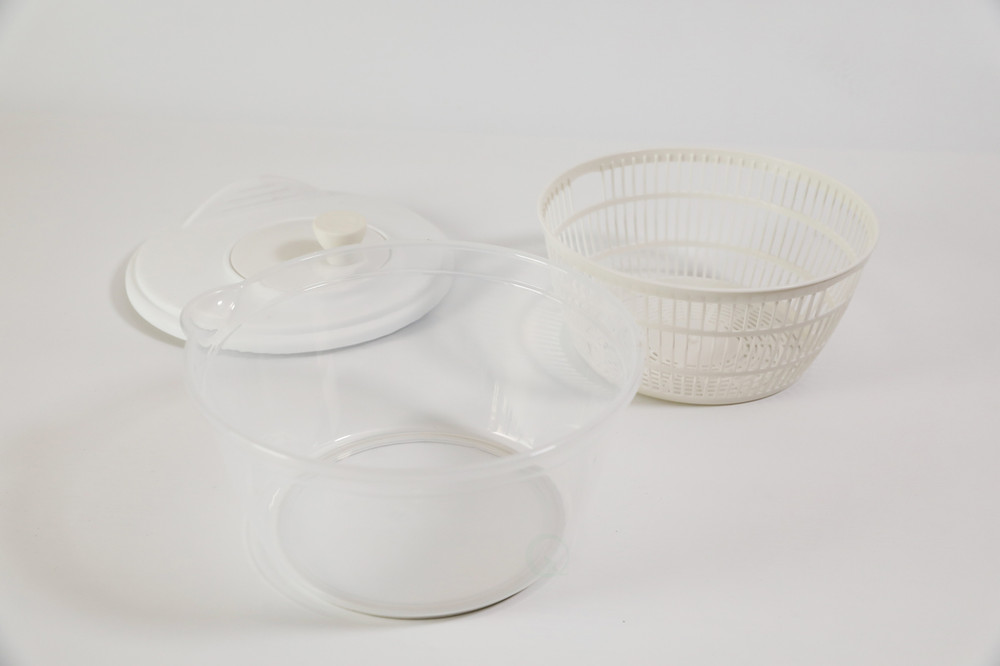 Clear Salad Spinner-Vegetable Washer and Dryer with Bowl