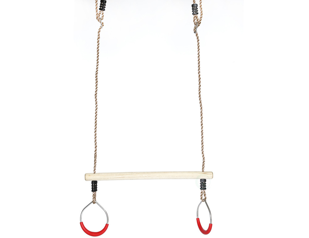 Kids Trapeze Swing Bar with Rings with Hanging Ropes