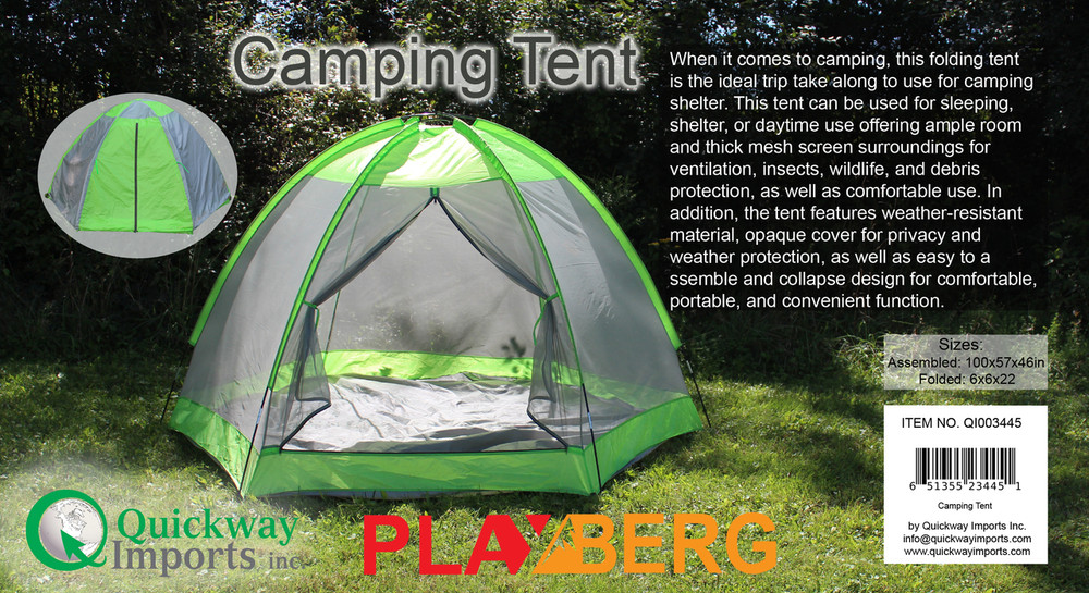 Camping Folding Tent with Screen Exterior