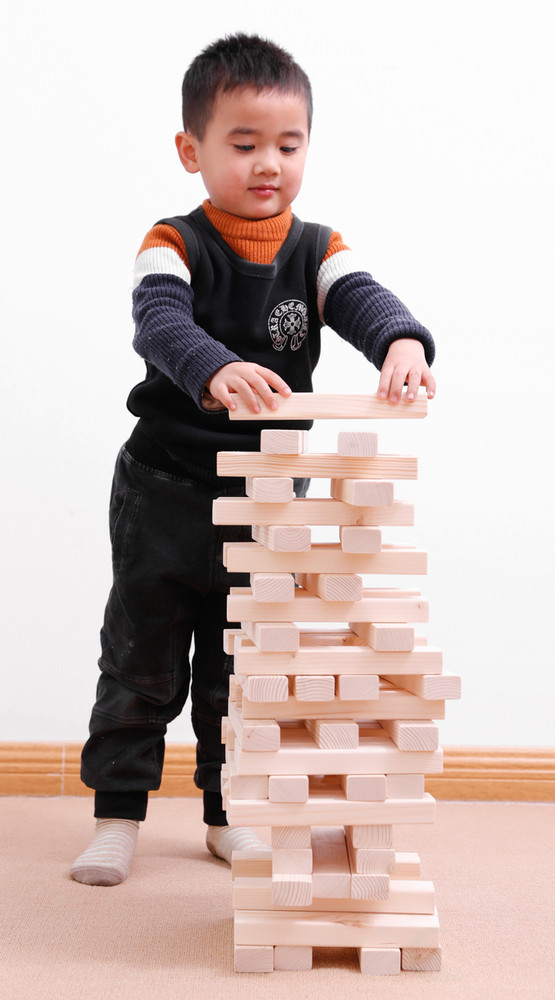 60 Block Giant Hardwood Tower Stacking Game