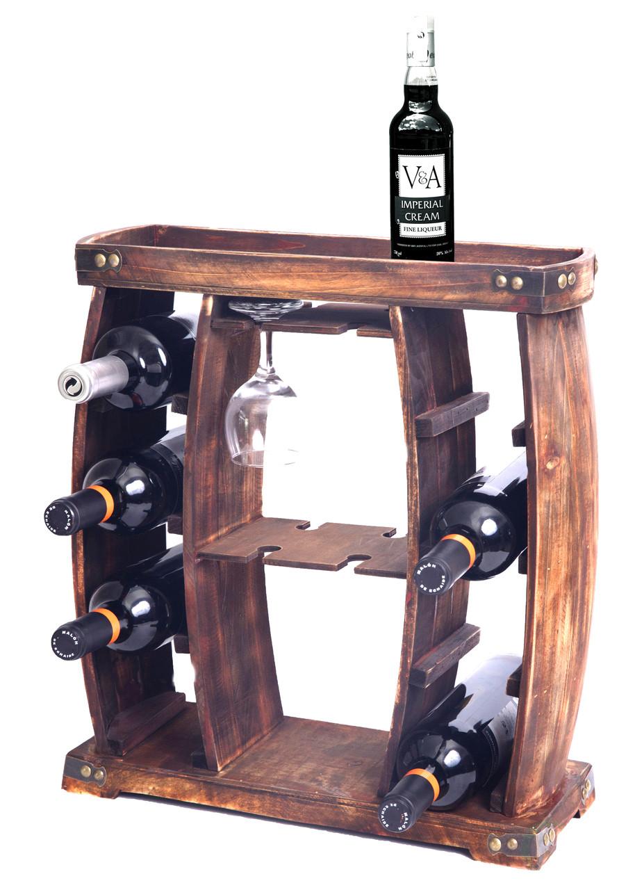 Floor Freestanding /& Countertop Wine Holder Storage Rustic Wood Wine Racks