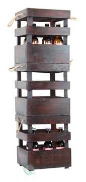 Antique Style Stackable Wooden Beer Crates