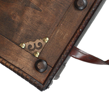 Antique Style Distressed Wooden Pirate Treasure Chest