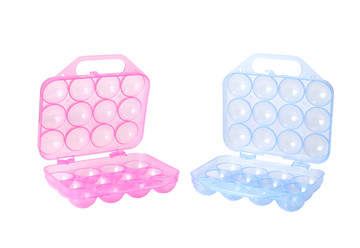 Clear Plastic Egg Carton-12 Egg Holder Carrying Case with Handle