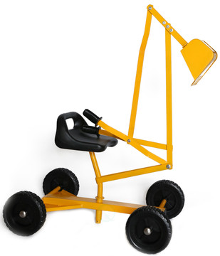 Metal Sand Digger Toy Crane with wheels