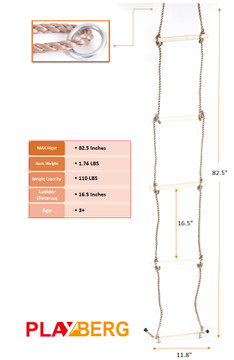 5 Step Climbing Wooden Rope Ladder