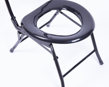 Folding Portable Toilet Seat for Camping and Hiking with Back Rest