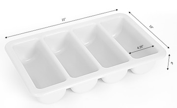 4-Compartment Commercial Cutlery Holder