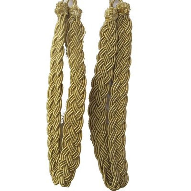 Pair of Gold Rope Curtain Tie Backs