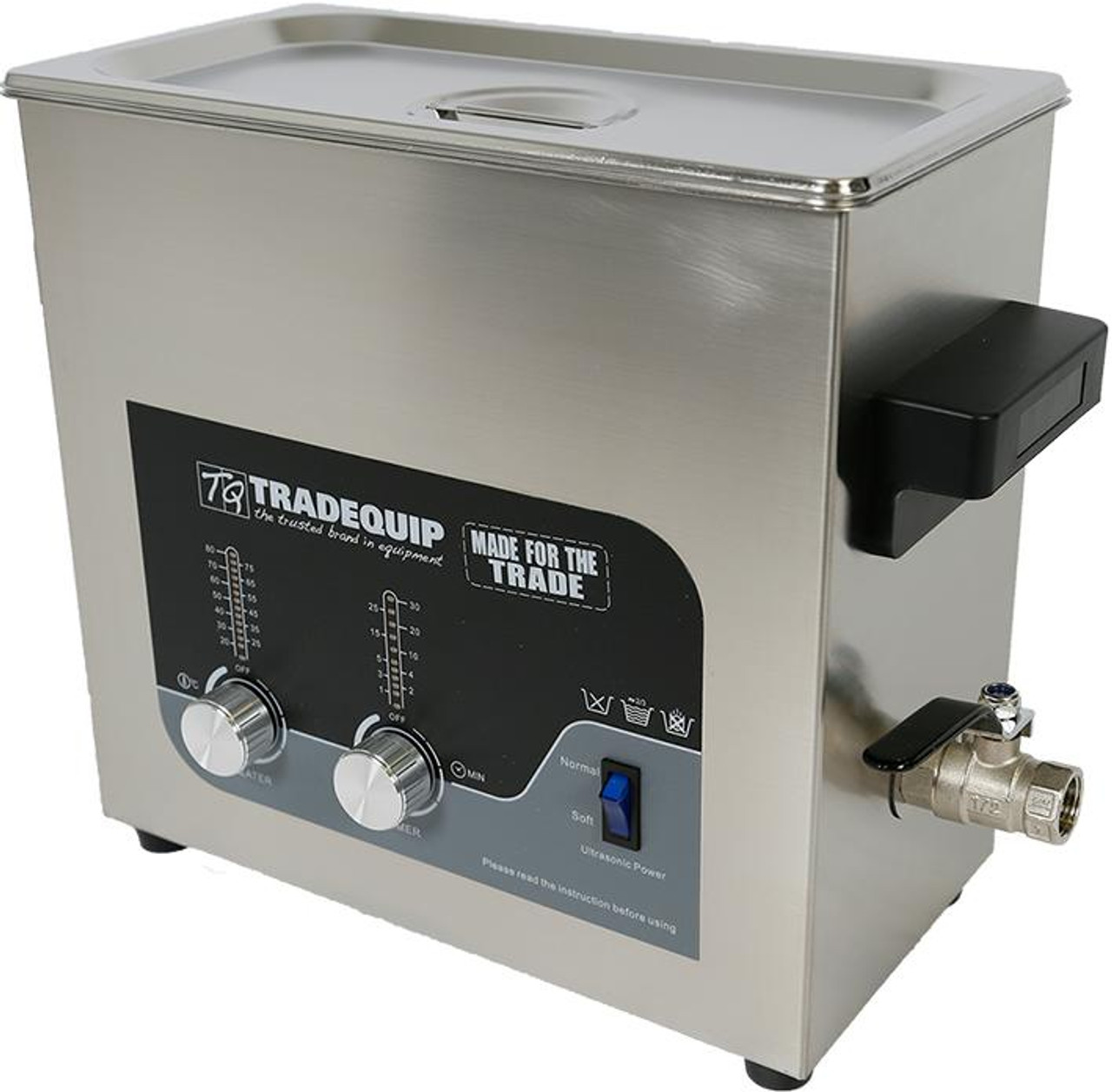 Ultrasonic Parts Cleaner, 36 Litre, 1039T, Tradequip