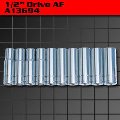 KC Tools 10 PIECE DEEP SOCKET SET AF A13694