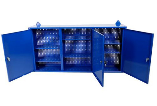 Tradequip Blue 3 Door Wall Cabinet Brilliant Value!