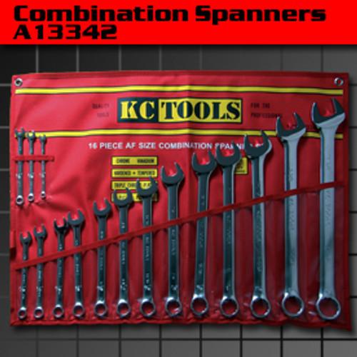 KC TOOLS JUMBO AF COMBO SPANNER SET A13342