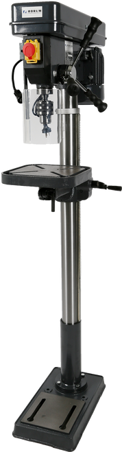Motor: 240V 3/4HP Number of Speeds: 16 Spindle Speeds: 162-3000rpm Maximum Drilling Capacity: 16mm Spindle Taper: MT2 Chuck: 16mm Maximum Spindle Stroke: 78mm Swing: 350mm Maximum Distance from Spindle to Table: 781mm Maximum Distance from Spindle to Base: 1219mm Diameter of Column: 73mm Diameter of Table: 290mm Size of Base: 450x265mm Overall Height: 1588mm Weight: 55kg Carton: 1370 x 460 x 230mm