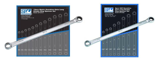 SP10412 SP Tools Mega 20pc MM/AF Extra Long Double Ring Geardrive Duo Spanner Set