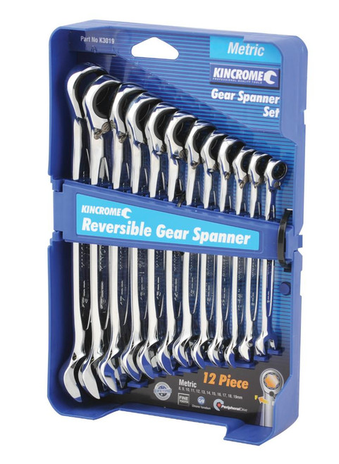 K3019 KINCROME MM GEAR SPANNER SET WITH REVERSE SWITCH  K3019