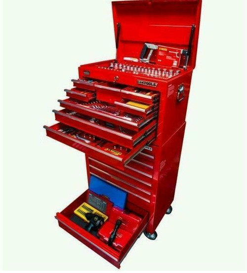 KC Tools 411Pce Toolkit Top Chest & Bottom Roller Cabinet.