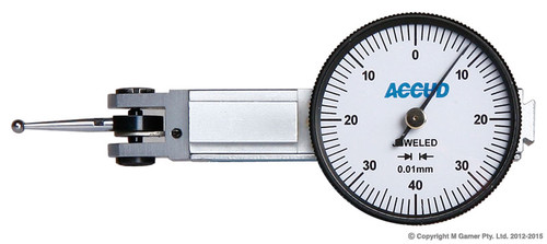 Accud 0.8mm Metric Lever Type Dial Test Indicator