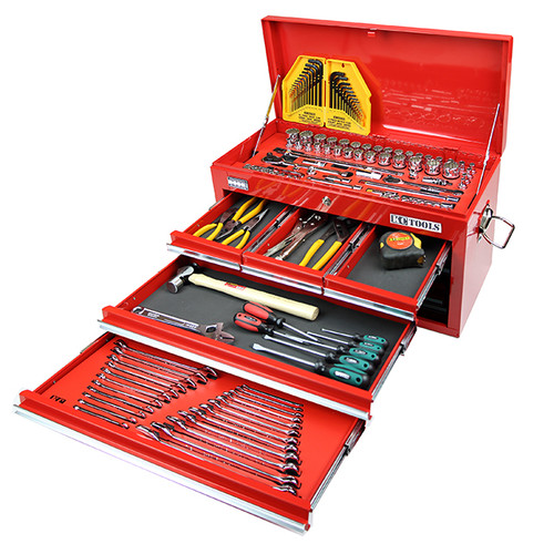 ATK158 158 PIECE TOOL KIT IN 6 DRAWER TOOL BOX