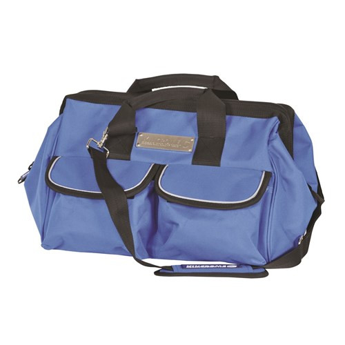 FEATURES • Twin Carry Handles • Strong Polyester Construction • Reflective Edging • 12 Internal Pockets • Padded Adjustable Shoulder Strap • 4 x Rubber Feet • Padded Internal Base • Heavy Duty Zip • 2 Slide Touch Fastener Pockets • 3 Side Netting Pocket Measurements: 400 x 220 x 270mm