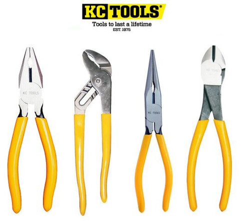 KC TOOLS 4PCE TRADE SERIES PLIER SET