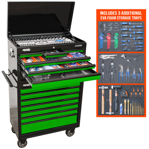 SP 417pc Green Toolkit + Trays + Bluetooth Speakers
