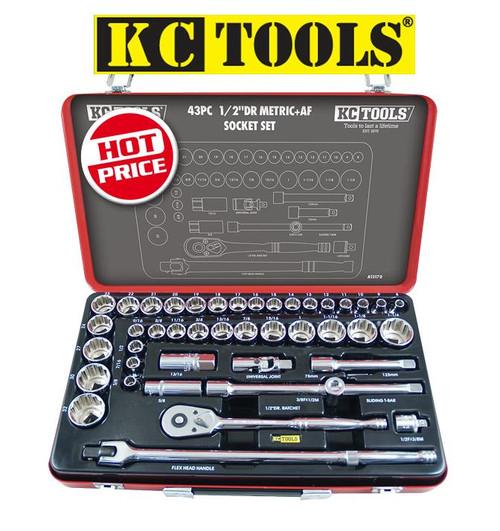 KC Tools A13170 43 PCE 1/2 DVE SOCKET SET.