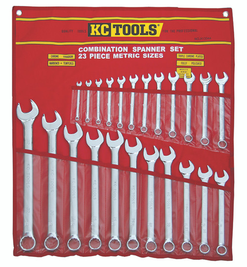 KC TOOLS JUMBO SIZED METRIC SPANNER SET A13344