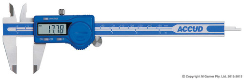 "Accud 150mm (6"") LCD Digital Vernier Caliper"