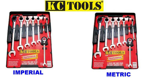 KC 14PCE MM & AF GEAR SPANNER DUO PACK