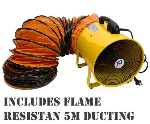 TRADEQUIP COMMERCIAL 400MM EXTRACTOR FAN & 5 METER DUCTING