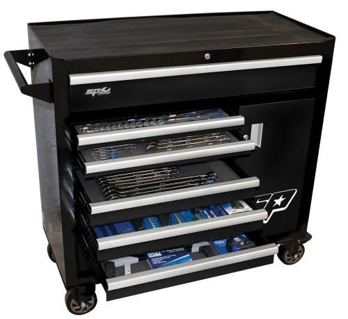 SP Tools 217pc Metric/SAE Custom Series Roller Tool Kit Black