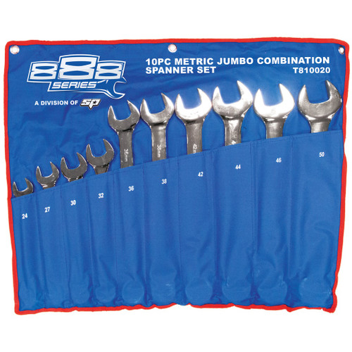 10pc Metric Jumbo Spanner Set  888 Brand (by SP Tools) T810020