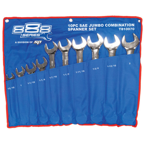 10pc AF  888 Brand (by SP Tools) Jumbo Spanner Set T810070